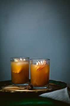 apple cider punch (rum + apple cider)