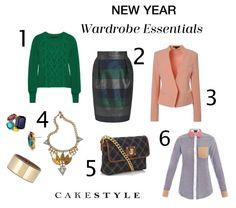 2013 Must-Haves: emerald green, pretty pencil skirt, pastel blazer, statement accessories, mini satchel, chambray shirt