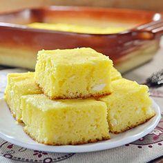 Zlevanka - sweet cottage cheese cornbread from Croatia.