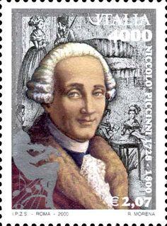 2000 - Bicentenario della morte di Niccolò Piccinni - Ritratto di Niccolò Piccinni (1728-1800) - compositore