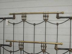 Original brass, slightly buffed up. #ironbeds #antiqueironbeds