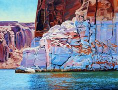 Corner of Time, Oil, 16x20 by Ron Larson Oil ~ 16 x 20, Lake Powell
