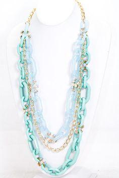 multi color, multi chains necklace