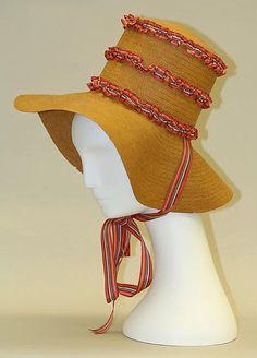 Hat Date: ca. 1825 Culture: American Medium: straw