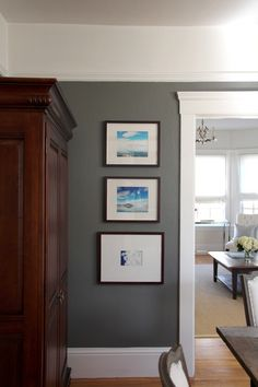Sara's Serene  Sophisticated Home - Sherwin Williams Urban Bronze Love the colors