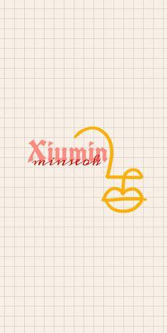 Exo Lockscreen, Exo Xiumin, Aesthetic Art, Small Drawings, Names, Kpop, Nct, Artsy, Korean