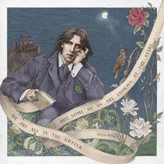 """""""We are all in the gutter, but some of us are looking at the stars."""" ― Oscar Wilde, (""""Lady Windermere's Fan""""). 3rd beautiful mind for """"Wise Words on Ribbon"""" project."""