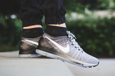 """Nike Zoom All Out Flyknit """"Wolf Grey"""": The sneaker hybrid boasts some of Swoosh's most recent technologies. Crazy Shoes, Me Too Shoes, Men's Shoes, Nike Shoes, Shoes Sneakers, Grey Sneakers, Nike Zoom, Reebok, Nba"""