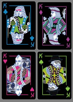 ari steffen is raising funds for Radical playing cards by BICYCLE® on Kickstarter! A deck of Bicycle playing cards gets a style remix! Cool Playing Cards, Custom Playing Cards, Custom Cards, Cool Cards, Playing Card Design, Bicycle Cards, Bicycle Playing Cards, Queen Of Hearts Card, Pokerface