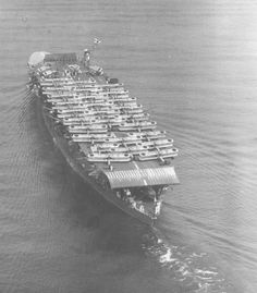 Aircraft carrier Akagi of the imperial Japanese navy with B1M and B2M planes onboard (1934).