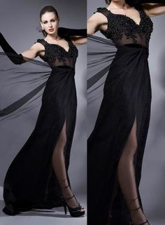 Prom Dress,Sexy Elegant Prom Dresses,Elegant Evening Dress,Beading Evening