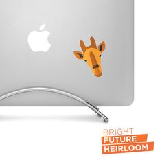 Flat Design Giraffe Head - Printed vinyl decal - Perfect for laptops tablets cars trucks SUVs and more! by BrightFutureHeirloom