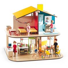 Djeco Color house dolls house-product