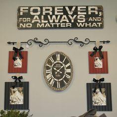 Rodworks - Scroll Frame Rod, picture hanging rod, picture hanging ideas, frame rod, wall decor, home decor