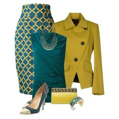 Love the style of this jacket.A fashion look from December 2014 featuring Helmut Lang tops, Vivienne Westwood Anglomania blazers and Stella Jean skirts. Browse and shop related looks. Mode Outfits, Office Outfits, Fashion Outfits, Womens Fashion, Fashion Trends, Office Attire, Woman Outfits, School Outfits, Fashion 2017