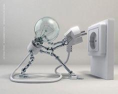 コンセントを自分でさす電球型ロボットが完成! - +SIGHT