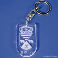 Llavero de metacrilato del escudo de El Guijo  #ValleDeLosPedroches    http://delospedroches.es/es/metacrilato/170-llavero-metacrilato-escudo-ll96.html