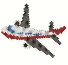 Amazon.com : Hama / Airport Fuse Beads Gift Set : Childrens Fuse Beads : Toys & Games Perler Bead Designs, Diy Perler Beads, Perler Bead Art, Pearler Beads, Melty Bead Patterns, Pearler Bead Patterns, Perler Patterns, Beading Patterns, Beaded Cross Stitch