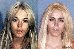 LOL @ recreating Lindsay Lohan's mugshot looks!