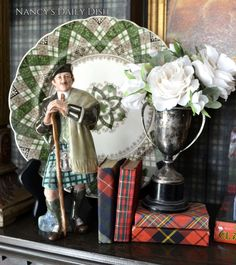 Vintage Royal Doulton Scottish Figurine The Laird in full Tartan Plaid