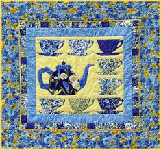 Grandma's Tea Party Mini Quilt by Beth from Piece by Number