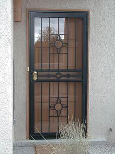 Securityscreendoo 1000 In 2020 Iron Security Doors Security Screen Door Wrought Iron Security Doors