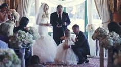 Groom reads wedding vows to daughter