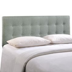 Quad Button Tufted Fabric Queen Headboard   Overstock™ Shopping   Big  Discounts On Modway