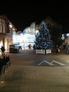 Christmas lights at the Grafton Quarter