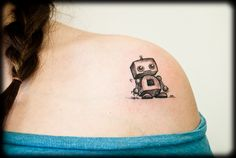 cute robot. (One of Milly's tattoos)