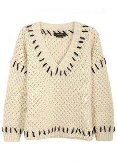 Isabel Marant Goldy Chunky-knit Wool Blend Jumper - Size 12
