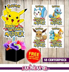 18 Pokemon centerpieces Pokemon printable
