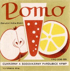 Drink label, Czechoslovakia