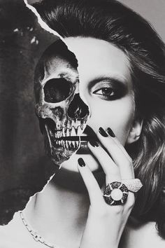 Woman half skull