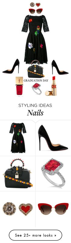 """""""Job Day 877"""" by minigiulia on Polyvore featuring Dolce&Gabbana, Alison Lou, Allurez, Yves Saint Laurent and Christian Louboutin"""