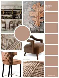 Warm Taupe   9 Amazing Mood Boards To Inspire Your Next Fall Home Decor Project   Interior Design Inspiration. Color Trends. #colortrends #interiordesign #homedecor Read more: https://www.brabbu.com/en/inspiration-and-ideas/interior-design/moodboard-inspiration