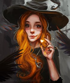 Witchy self portrait by Lambidy.deviantart.com on @DeviantArt