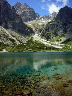 pleso alpine lake in High Tatra Mountains,. Zelené pleso alpine lake in High Tatra Mountains, Slovakia (by pleso alpine lake in High Tatra Mountains, Slovakia (by Bratislava, Places To Travel, Places To See, Tatra Mountains, Alpine Lake, Voyage Europe, Jolie Photo, Beautiful Places In The World, Adventure Is Out There