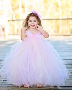 Blush Flower Girls Dress Perfect for any Event or Wedding!
