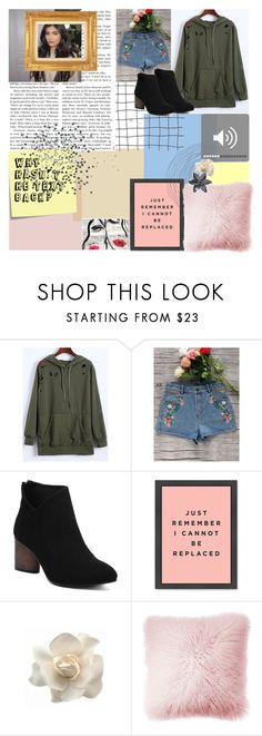 """GET THE LOOK"" by lanadelnotyou ❤ liked on Polyvore featuring Cheville, Post-It, Clips, JAG Zoeppritz, Oliver Gal Artist Co., GREEN and hoodie"