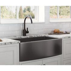 Black Farmhouse Sink, Stainless Steel Farmhouse Sink, Farmhouse Sink Kitchen, Stainless Steel Sinks, Kitchen Decor, Apron Sink Kitchen, Design Kitchen, Stainless Steel Kitchen Sinks, Kitchen Stuff
