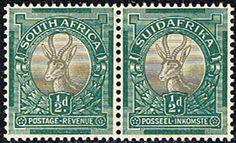 South Africa 1948 Springbok SG 126 Bi Lingual Pair Fine Mint Other South African Stamps HERE
