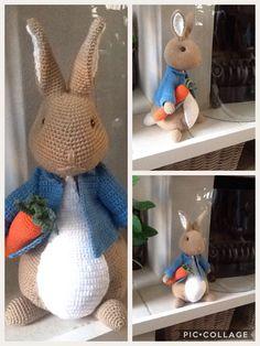 Mijn tweede Peter Rabbit. Patroon van Anja Toonen (paashaas) Handmade by Marja Post