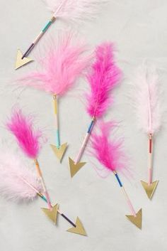 Anthropologie Feathered Arrows