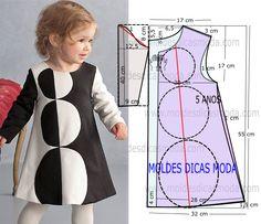 A publicação deste molde vestido com bolas 5 anos foi sugerido por uma seguidora e como eu sei que abrange uma grande parte dos pedidos decidi publicá-lo.