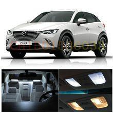 Free Shipping 6Pcs/Lot Xenon White car styling PackageKit LED Interior Lights For 2016 Mazda CX-3 CX3(China (Mainland))