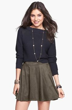 Mimi Chica Skater Skirt (Juniors) available at #Nordstrom
