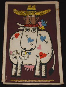 1985 Original Cuban Movie Poster Plakat Affiche affischPedro Y VacaCow Art Viva Cuba, Like Father Like Daughter, Cow Art, China Art, Sale Poster, Cuban, Cattle, Projects To Try, The Originals