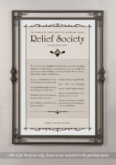Relief Society theme via etsy havejoy