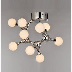 Modern simple glass DNA art Ceiling lamp bedroom Ceiling lamp machine dog living room Ceiling light